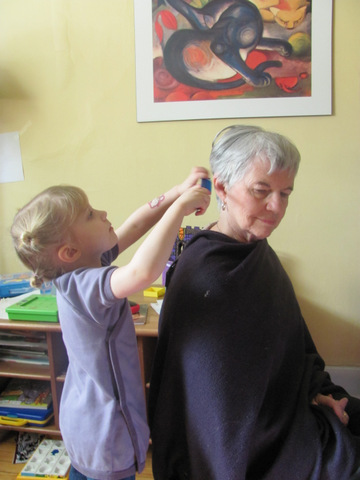 "She didn't want her ""mamie"" to lose hair. She was also sad because she wouldn't be able to play hairdresser with her anymore."