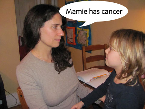 "One day, Anaïs's mom told her that her ""mamie"" had breast cancer."