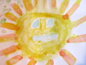 Spring break sunshine DIY watercolour paint